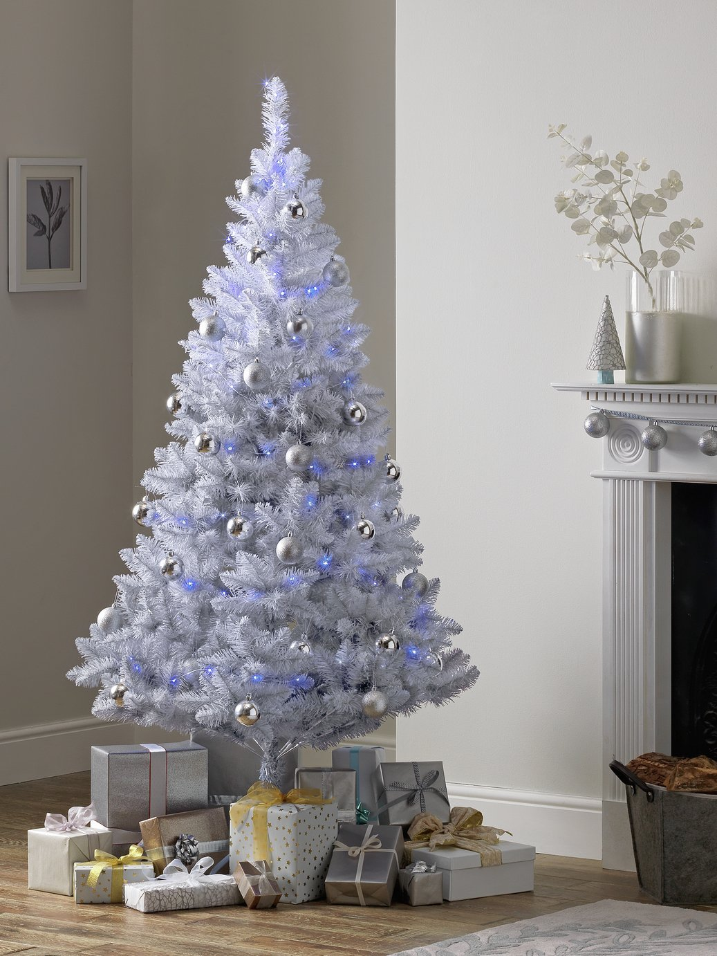 Argos Home 6ft Christmas Tree - Grey Ombre