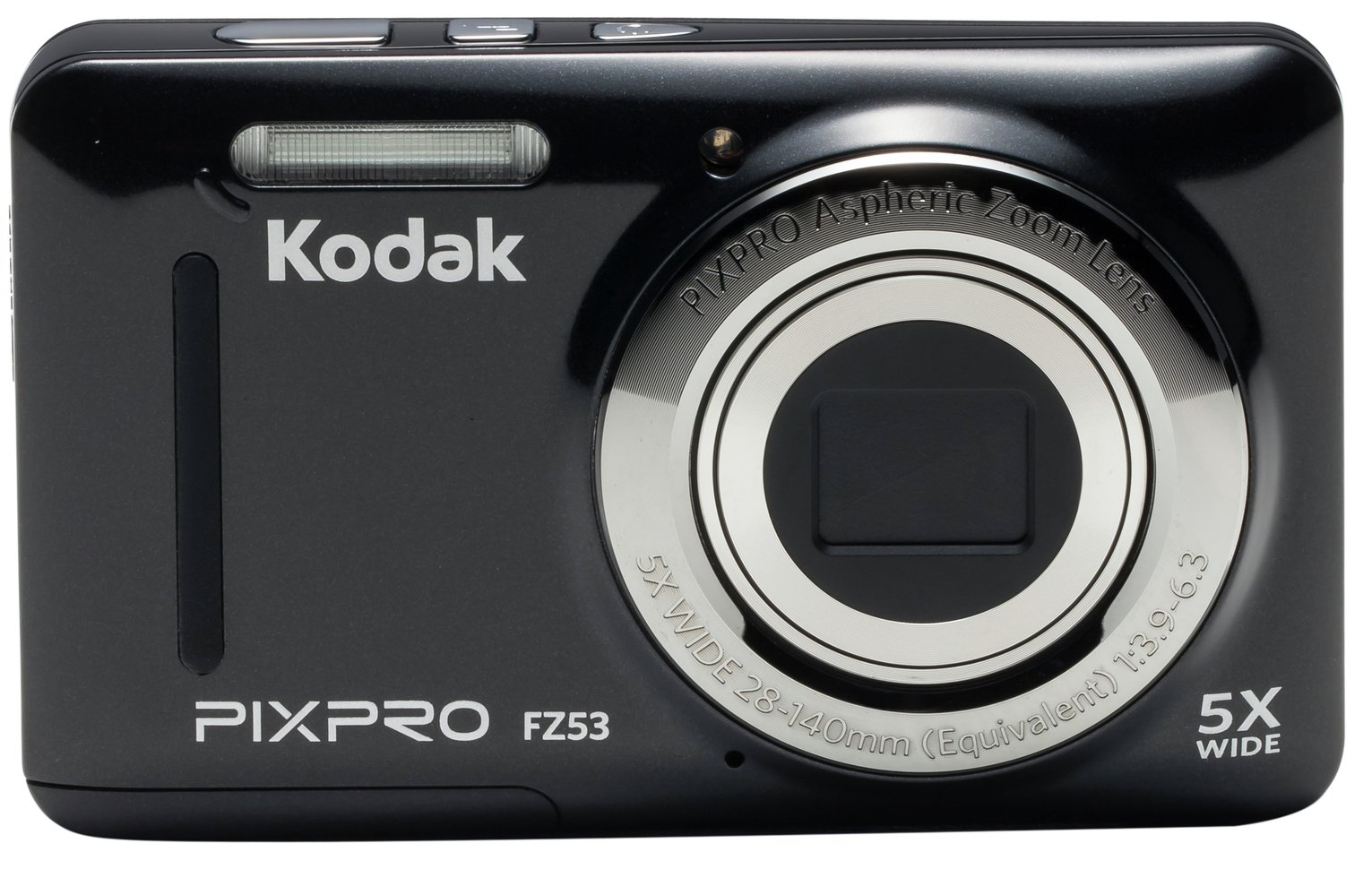 Kodak PixPro FZ53 Mirrorless Camera With 5.1-25.5mm Lens - Black