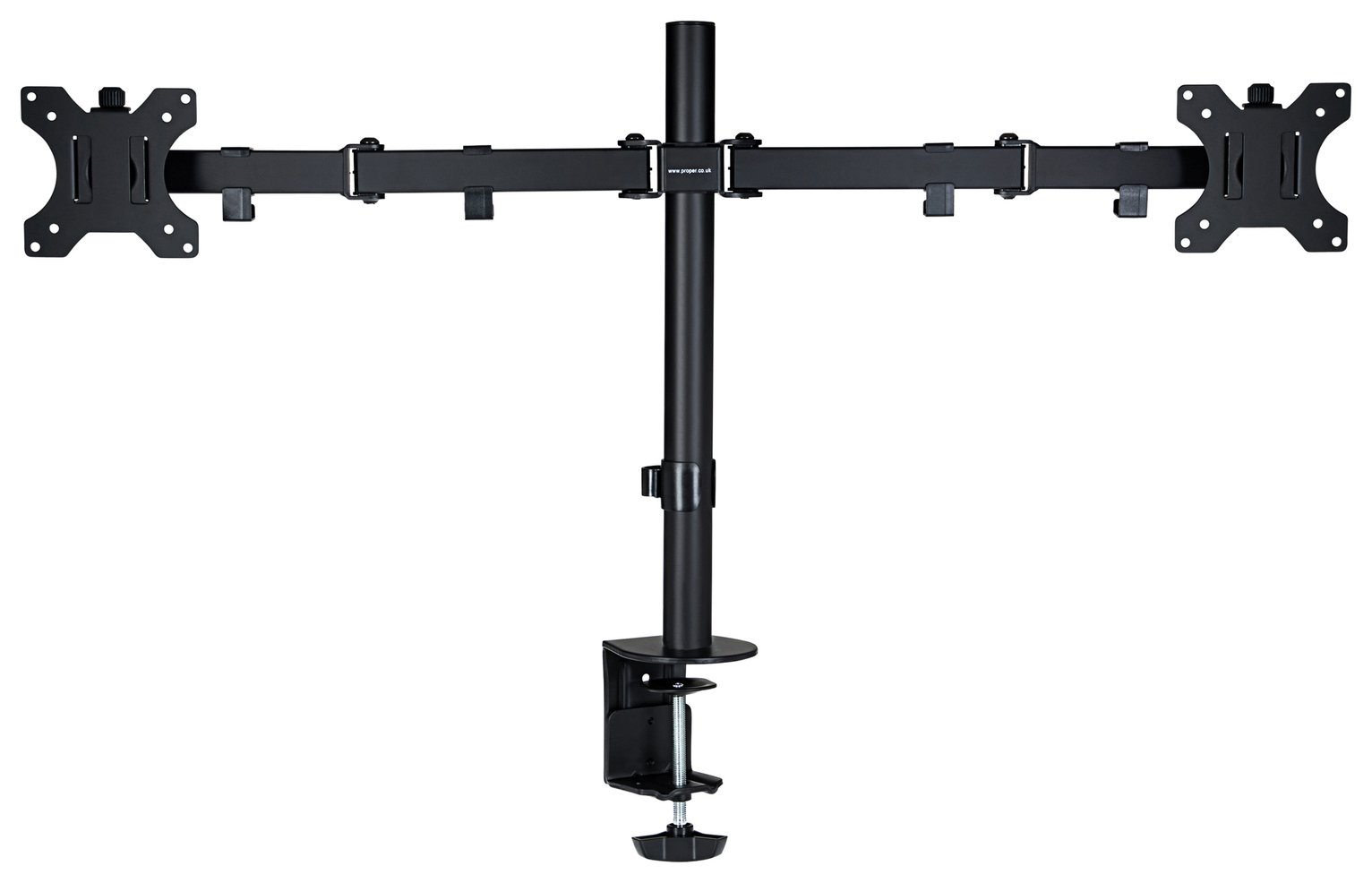 Proper AV Dual Swing Arm Monitor Desk Mount
