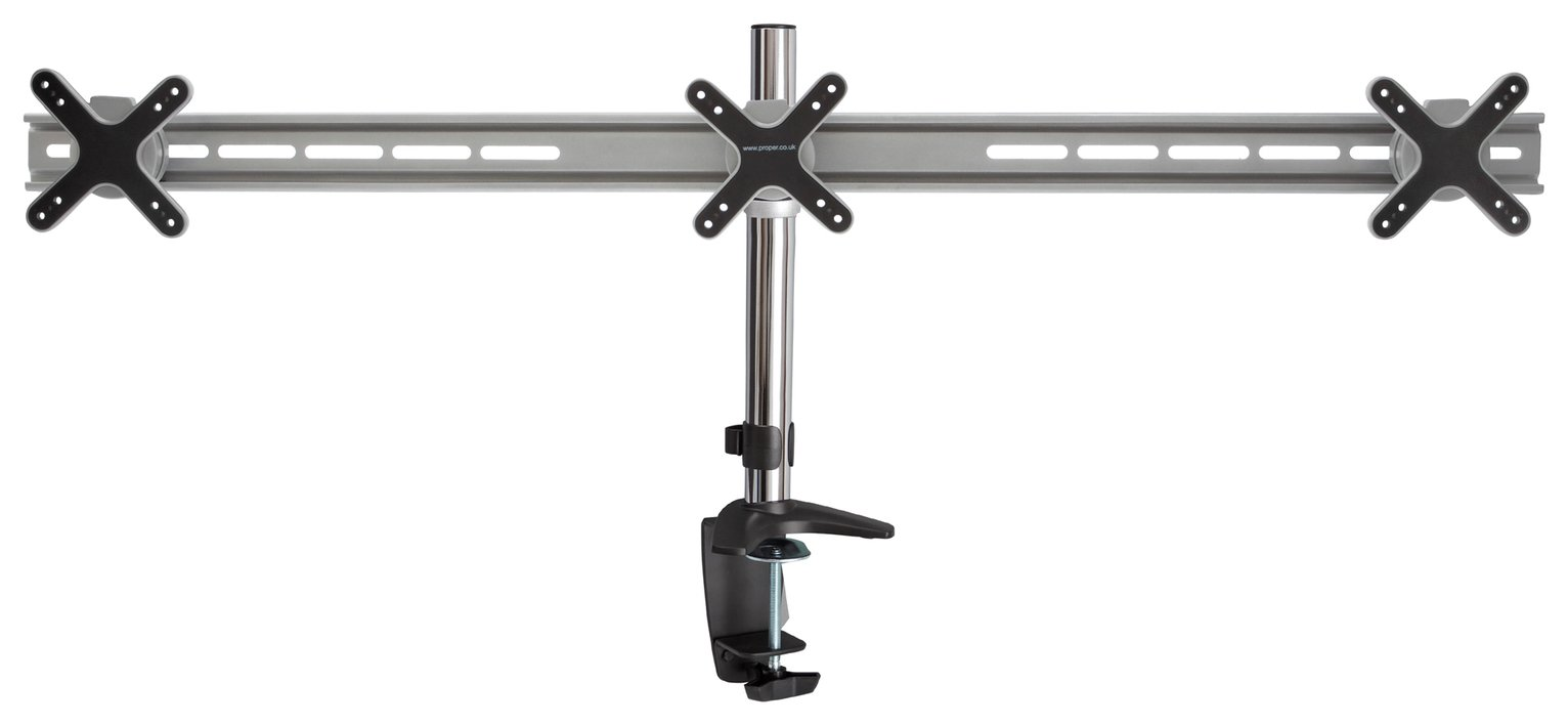 Proper AV Triple 13 to 24 Inch Monitor Desk Mount