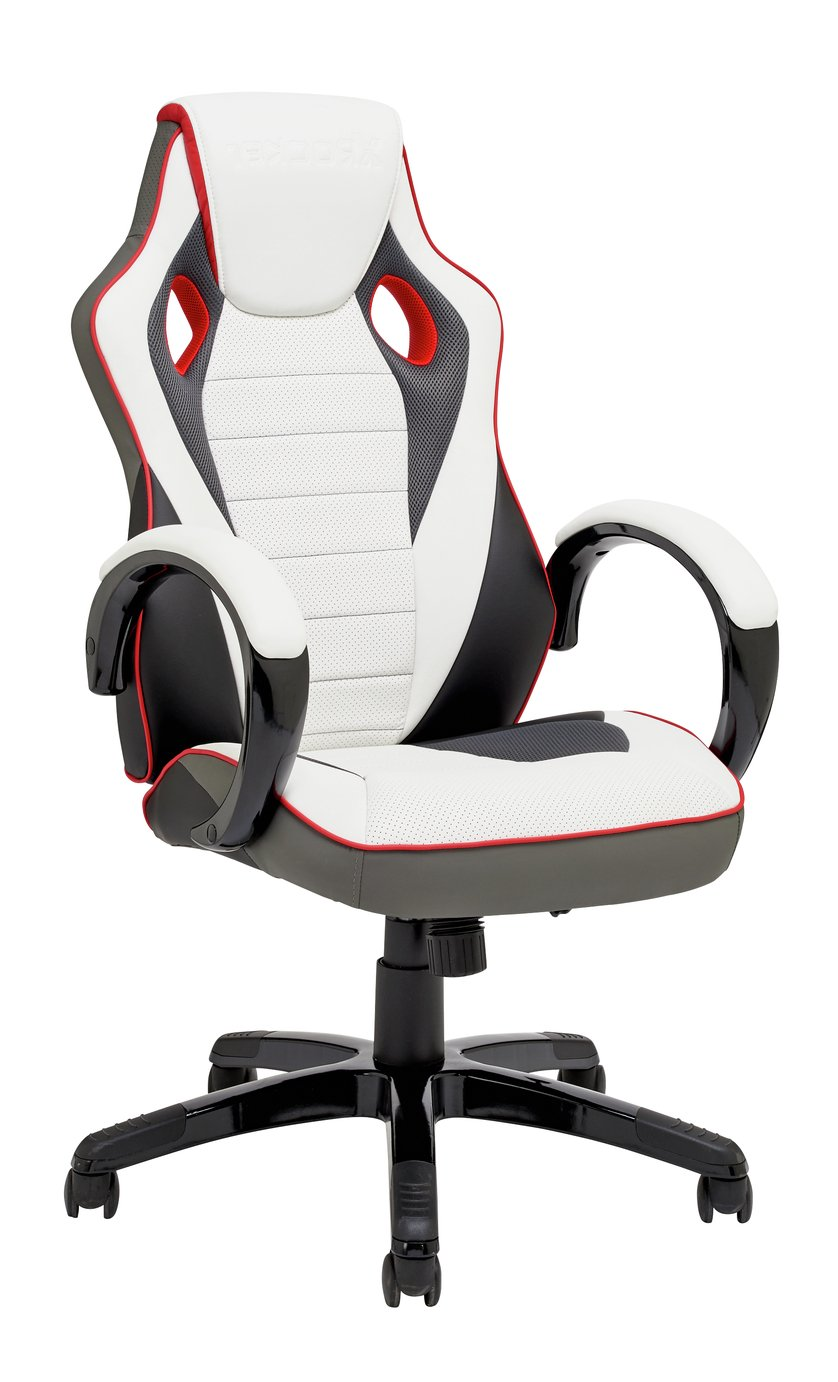 X-Rocker Faux Leather Gaming Chair - White