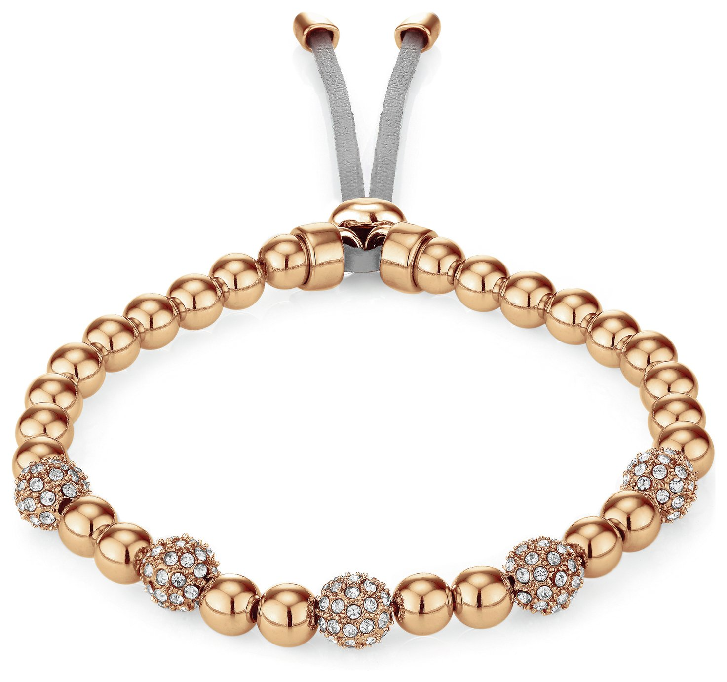 Buckley Rose Gold Colour Pimlico Crystal Bead Bracelet