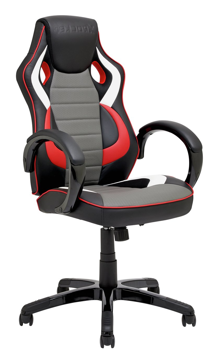 X-Rocker Faux Leather Gaming Chair - Black