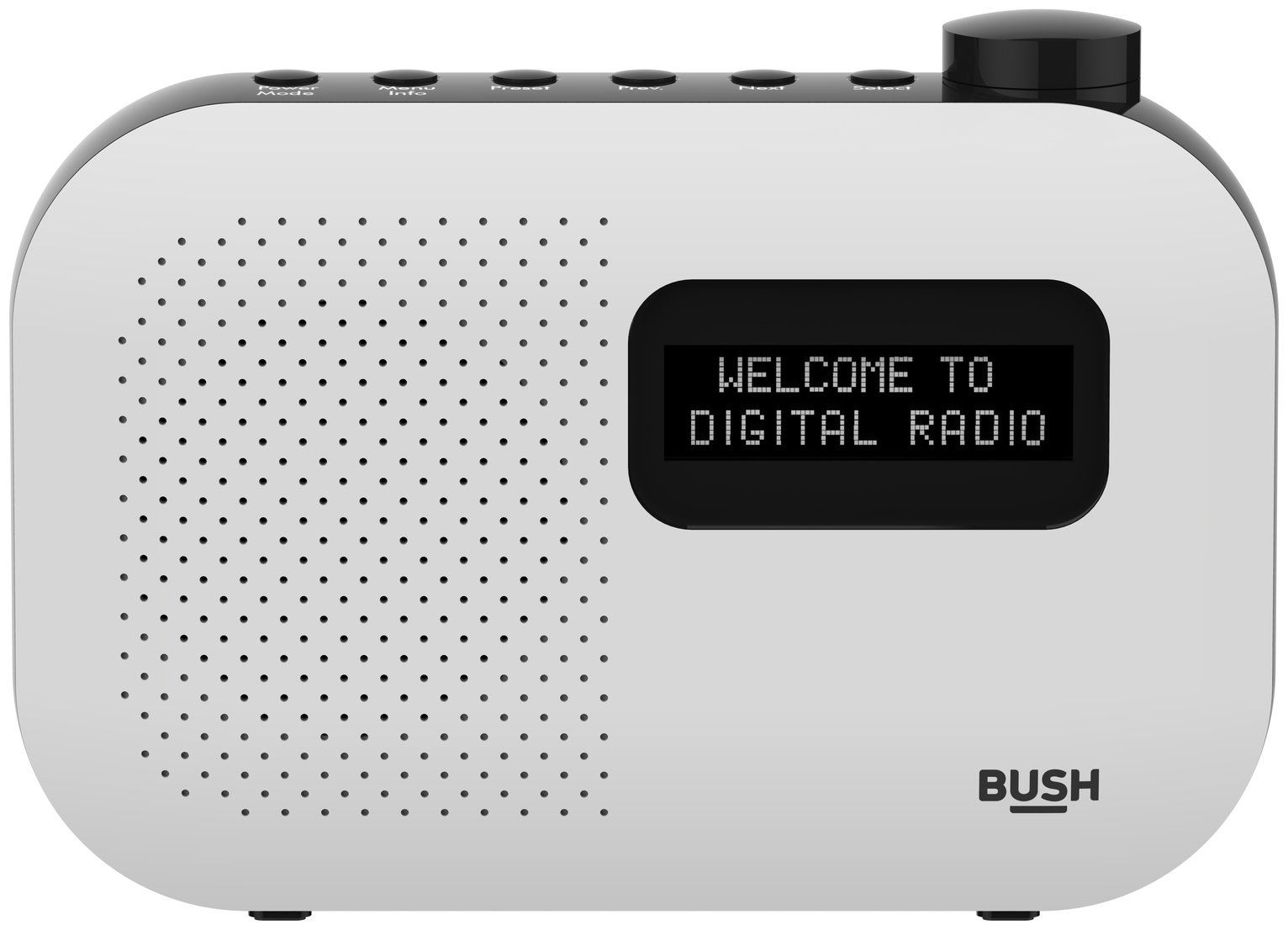 Bush Mono DAB Radio - White