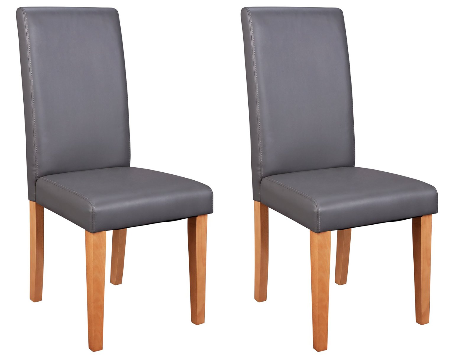 Wilden Oak Effect 150cm Table And 6 Charcoal Midback Chairs