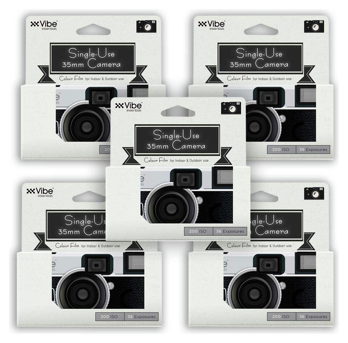 Vibe Single Use 36 Exposure Camera - 5 Pack