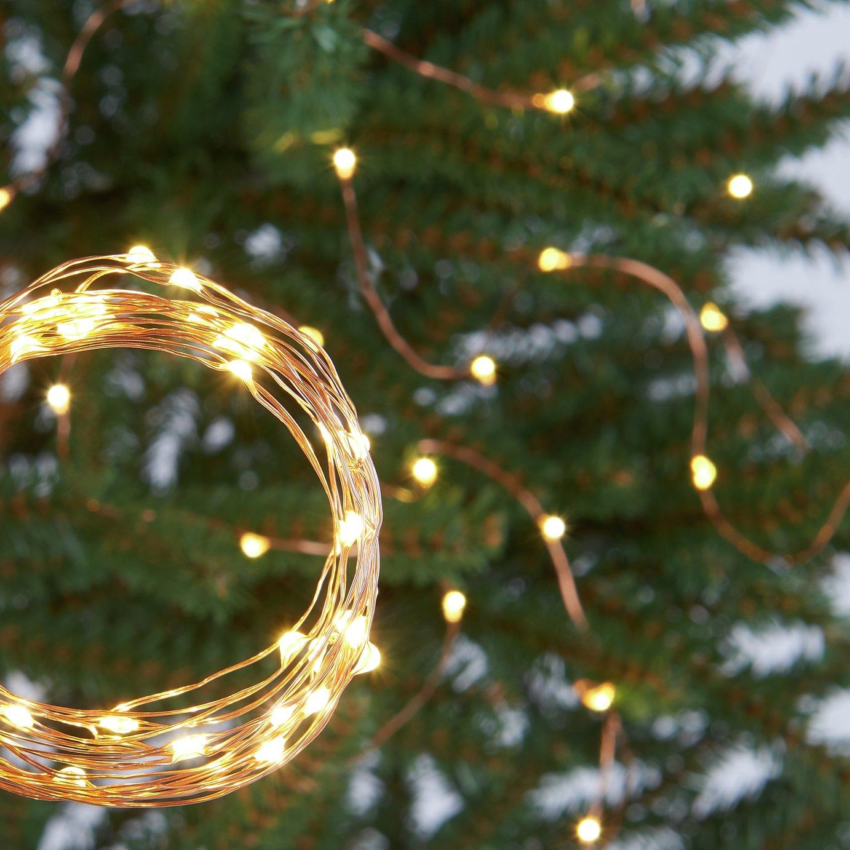 Argos Home Set of 120 LED Copper String Lights - Warm White