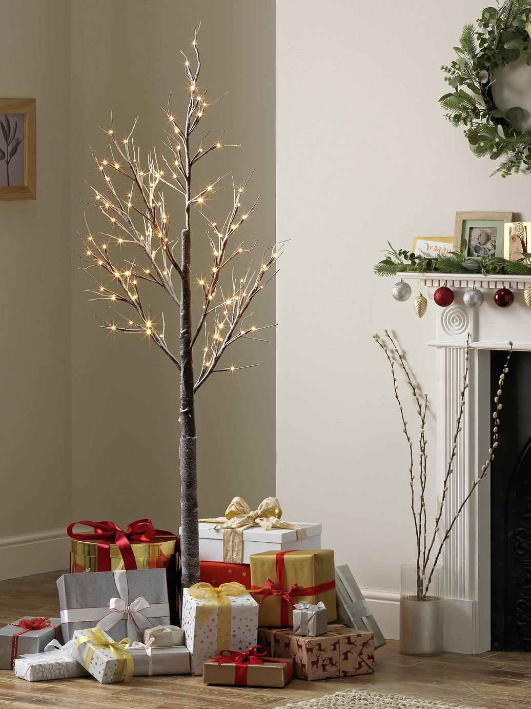 Argos Home LED Birch Tree with Frosting