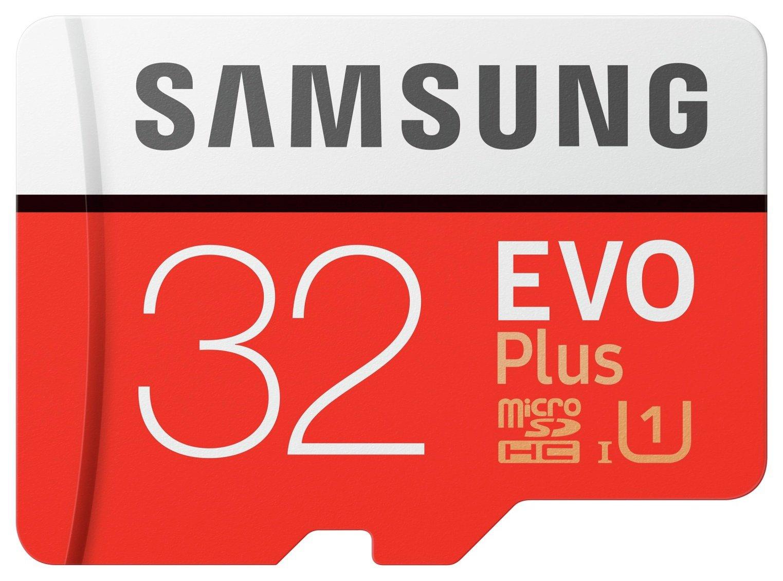 Samsung EVO Plus 95MBs Micro SDHC Memory Card - 32GB
