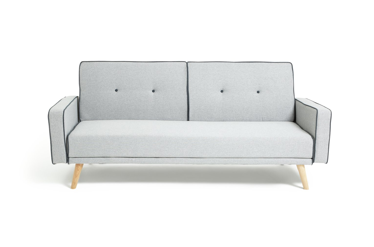 Argos Home Frankie 2 Seater Clic Clac Sofa Bed - Grey