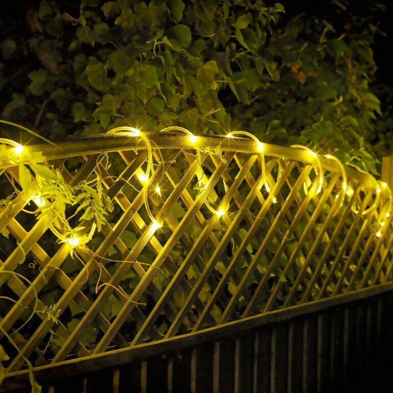 Argos Home Set of 80 LED Tube String Lights - Warm White