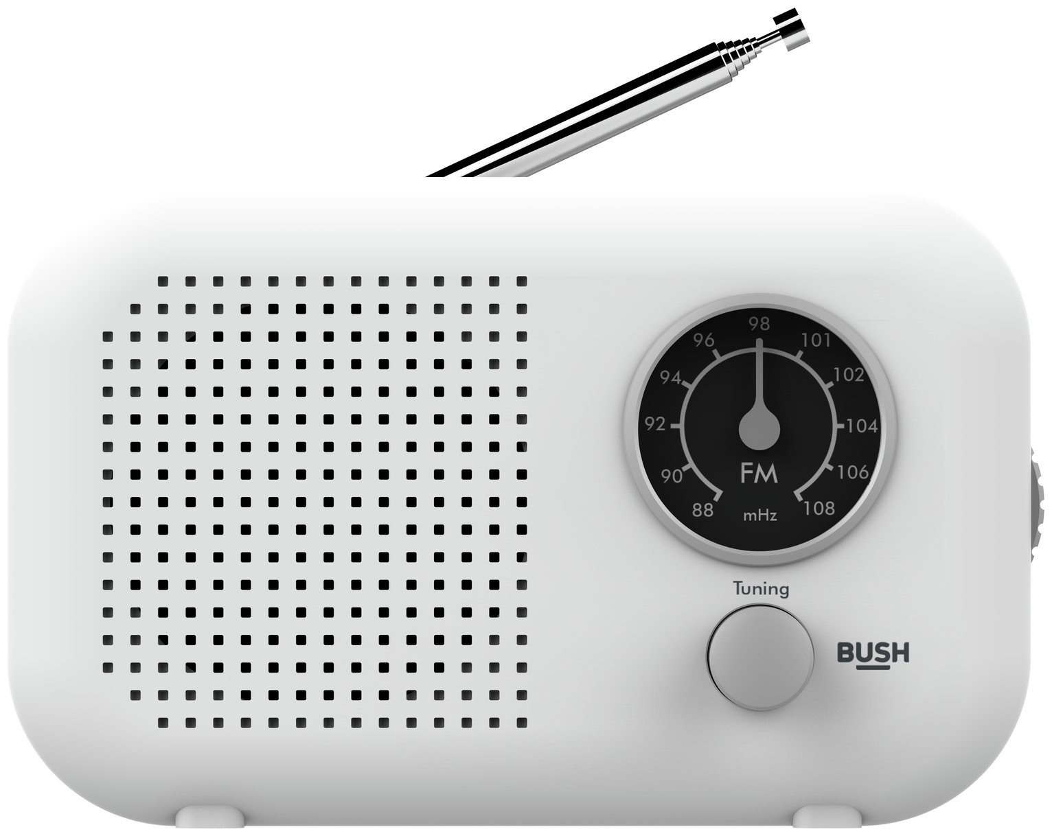 Bush Portable FM Radio - White