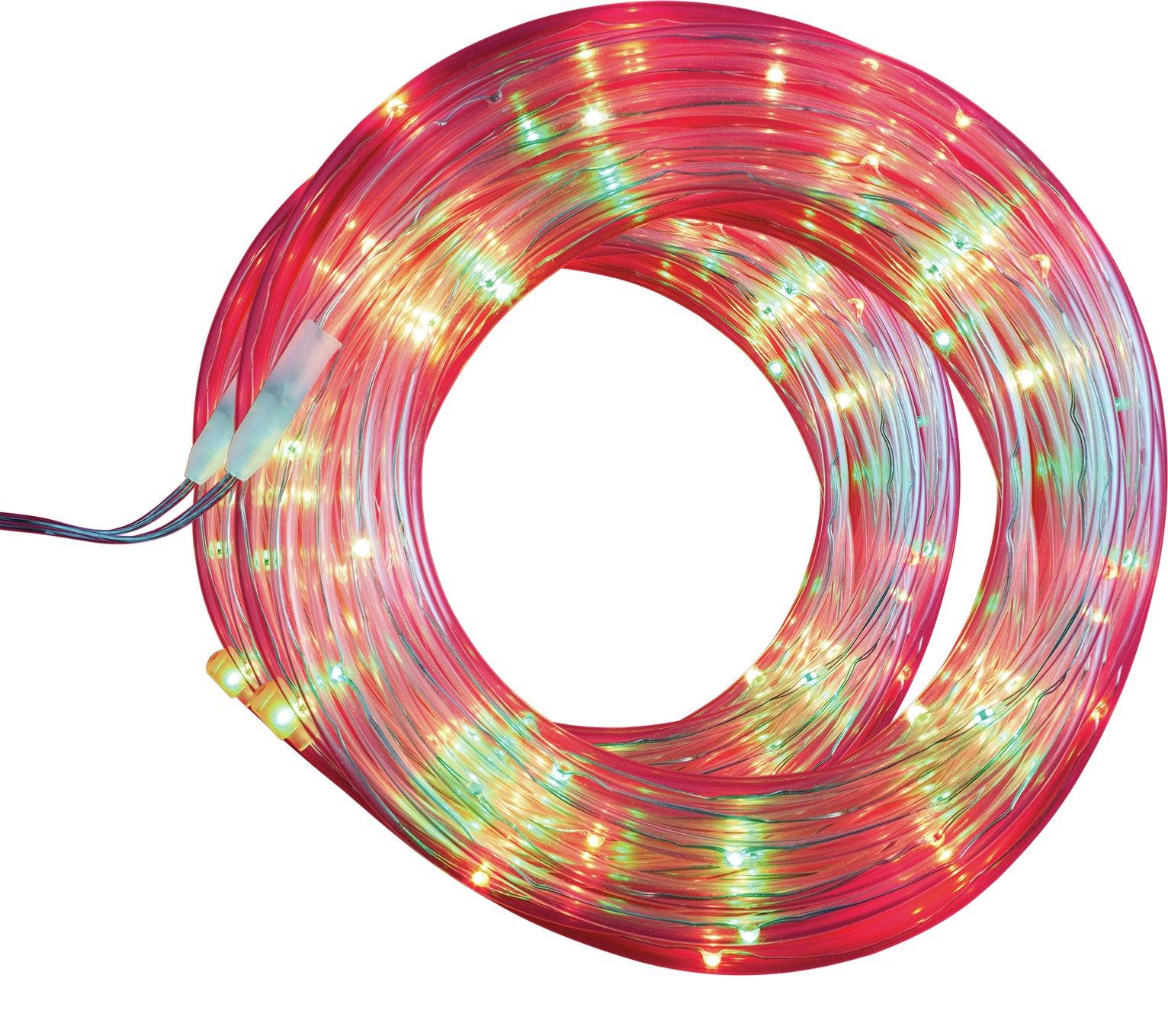 Argos Home Set of 80 LED Tube String Lights - Multicoloured