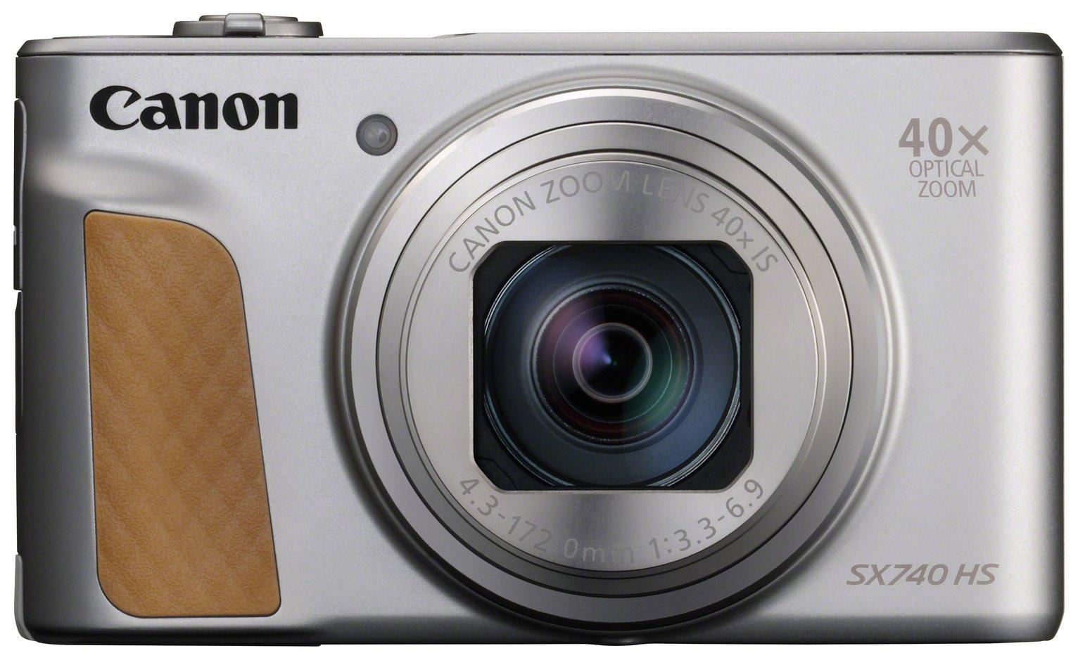 Canon PowerShot SX740 HS 20.3MP 40x Zoom Camera - Silver