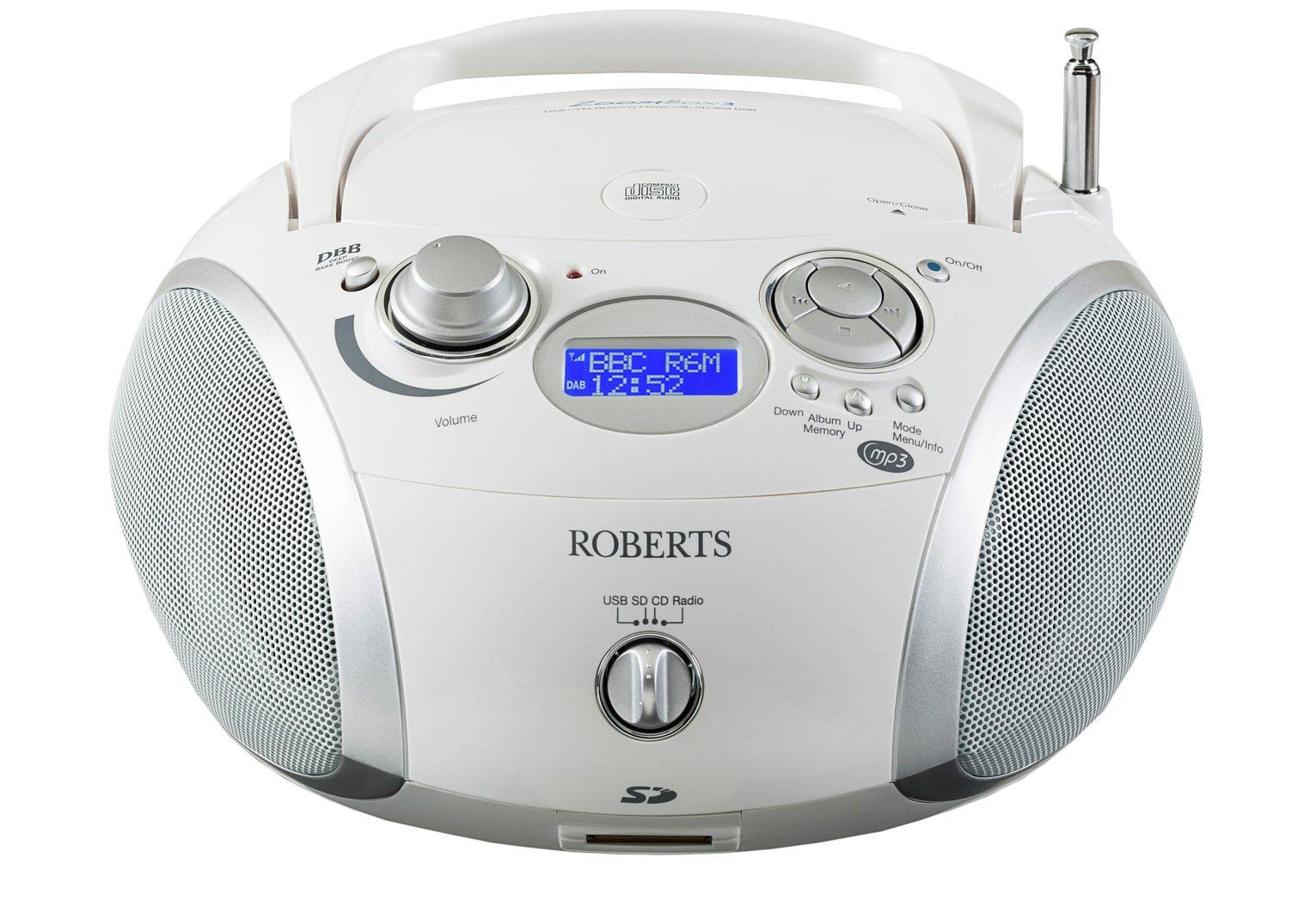 Roberts ZoomBox 3 Boombox - White