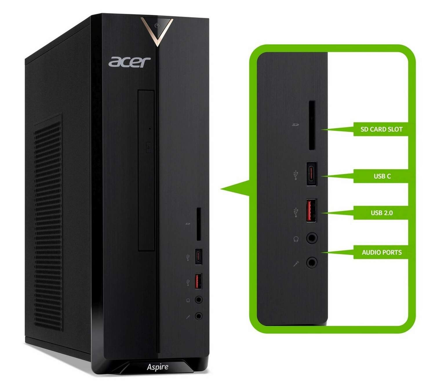 Acer Aspire XC-330 AMD A9 8GB 1TB Desktop PC