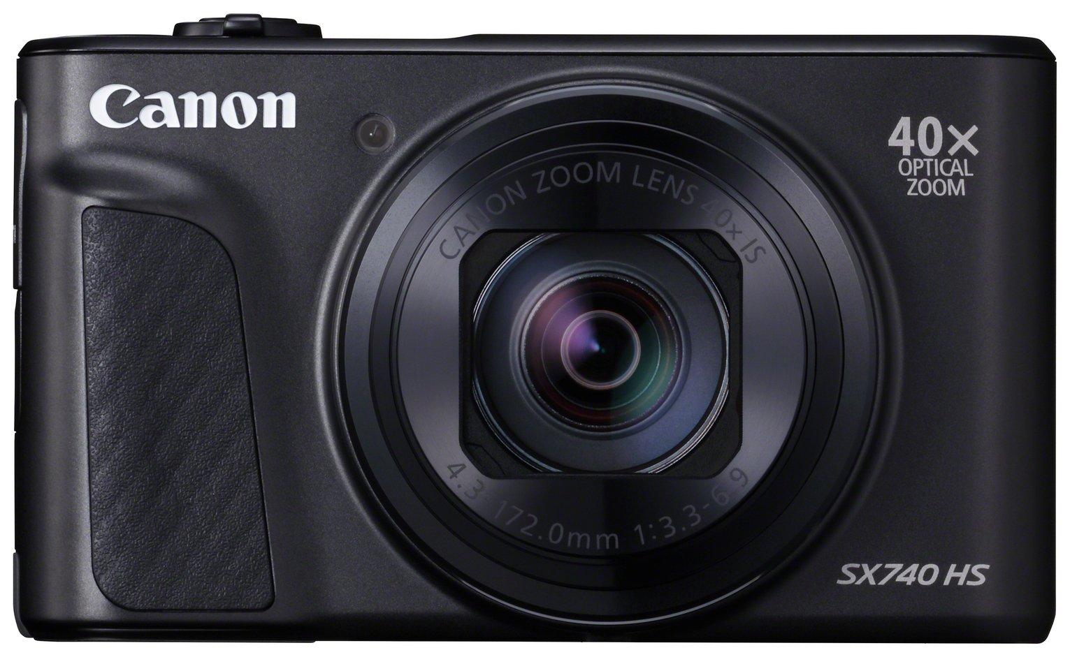 Canon PowerShot SX740 HS 20.3MP 40x Zoom Camera - Black