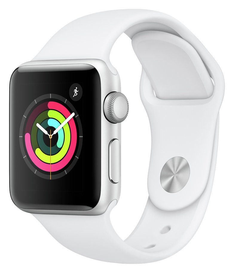 Apple Watch S3 2018 GPS 38mm - Alu / White Sport Band