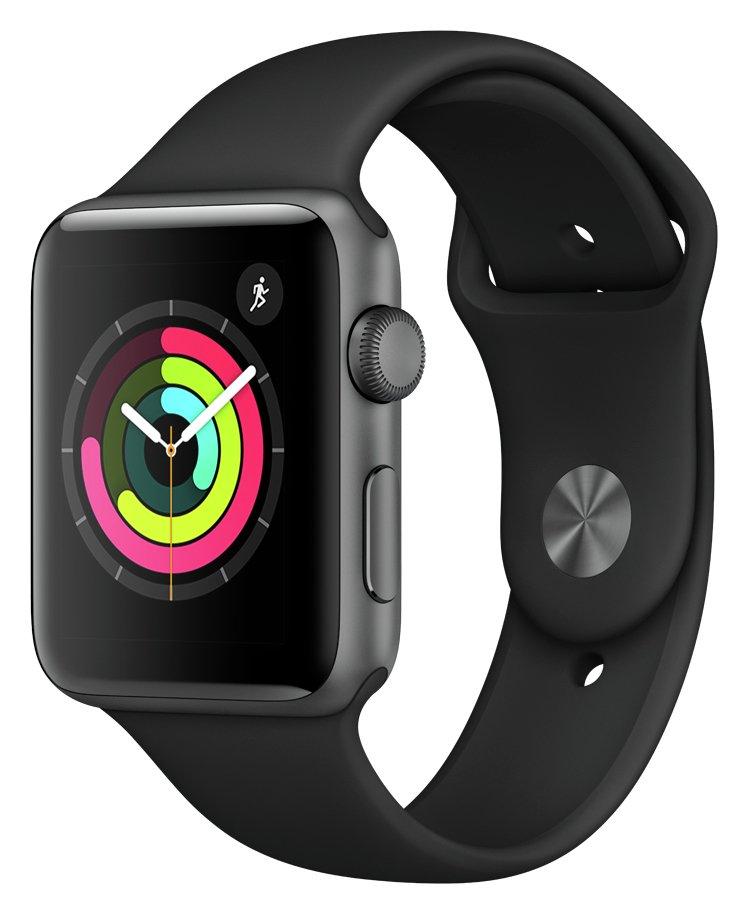 Apple Watch S3 2018 GPS 42mm-Space Grey Alu/Black Sport Band