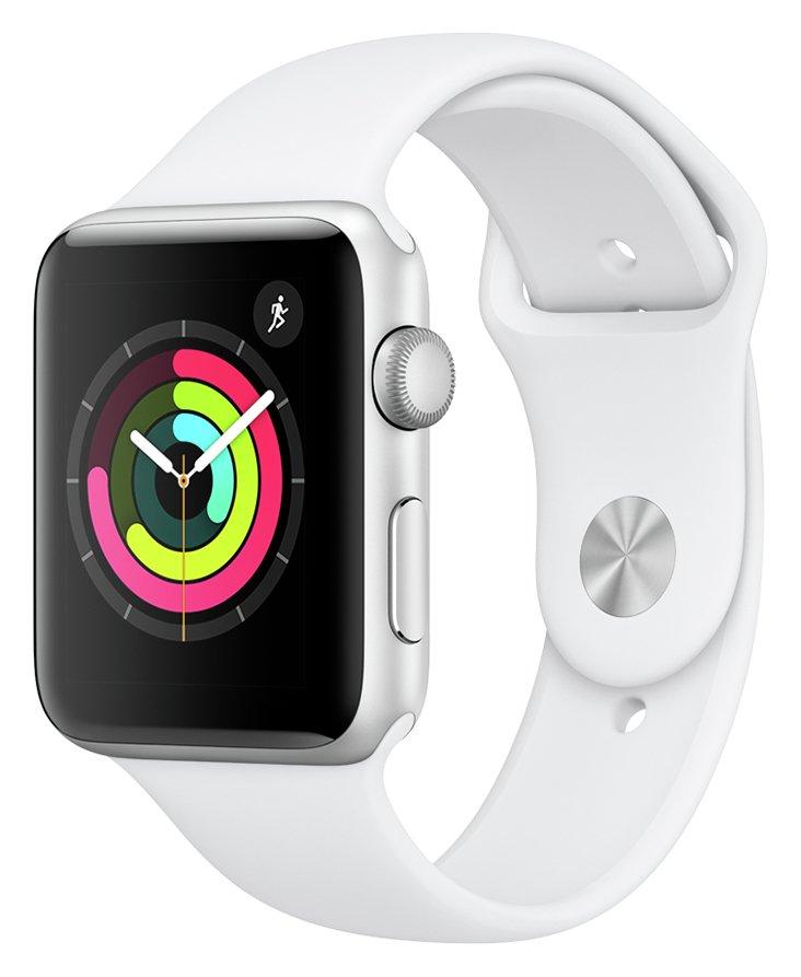Apple Watch S3 2018 GPS 42mm - Alu / White Sport Band
