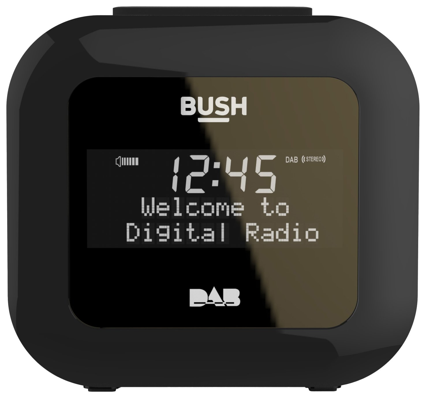 Bush USB DAB Clock Radio - Black