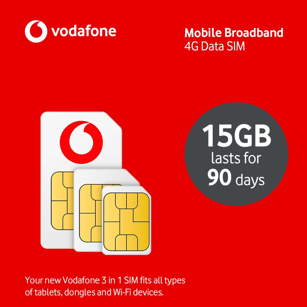 Vodafone 15GB Pay As You Go Data SIM Card