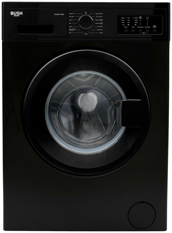 Bush WMNB712EB 7KG 1200 Spin Washing Machine - Black