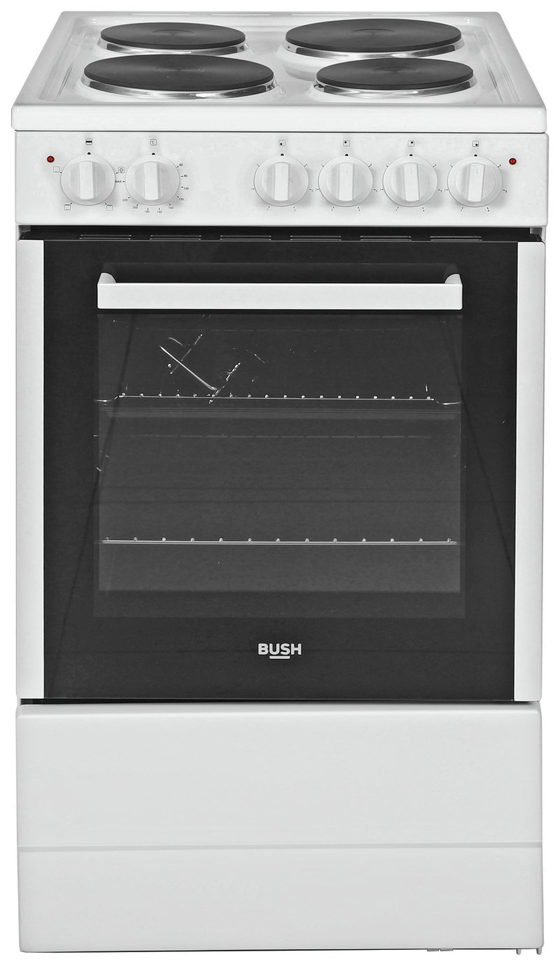 Bush BESAW50W Single Electric Cooker - White