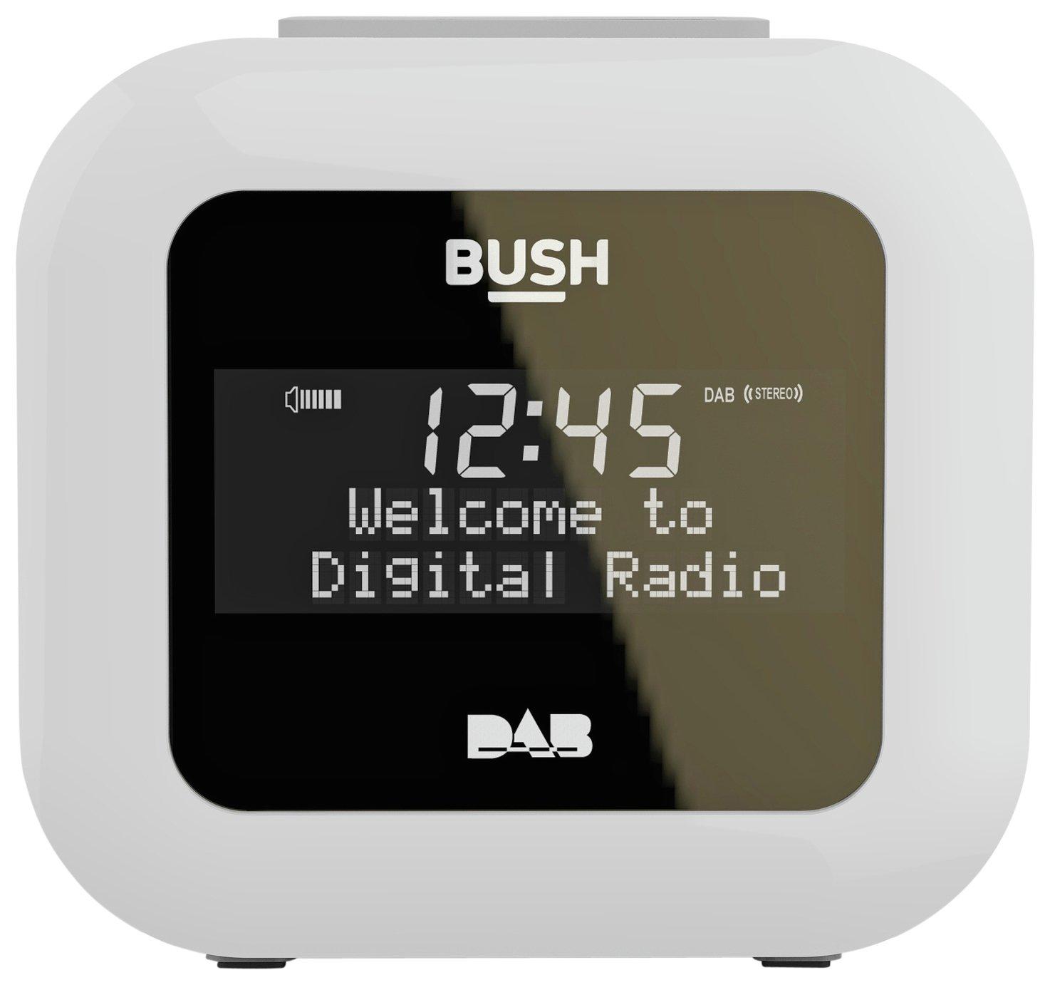 Bush USB DAB Clock Radio - White