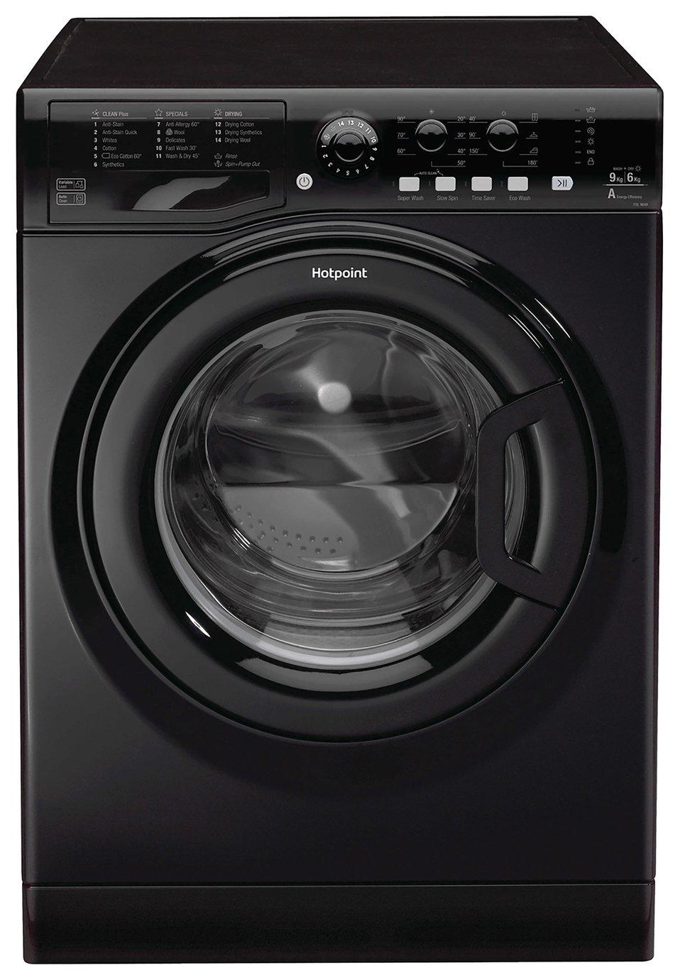 Hotpoint FDL9640KUK 9KG / 6KG 1400 Spin Washer Dryer - Black