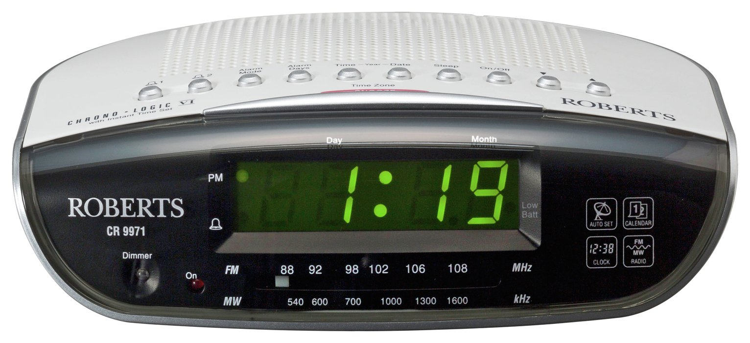 Roberts Chronologic VI Dual Alarm Clock Radio - White