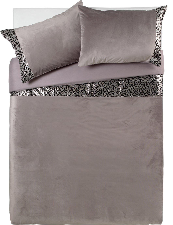 Argos Home Sequin Leopard Print Bedding Set - Superking