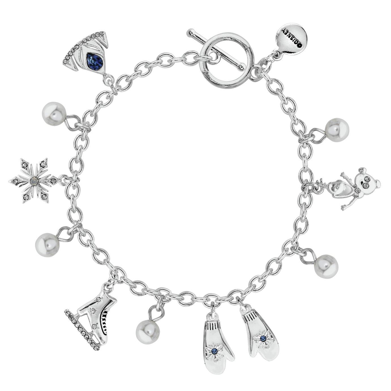 Disney Frozen Silver Coloured Crystal Charm Bracelet