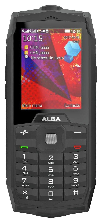 SIM Free Alba Rugged 2.4 Mobile Phone - Black