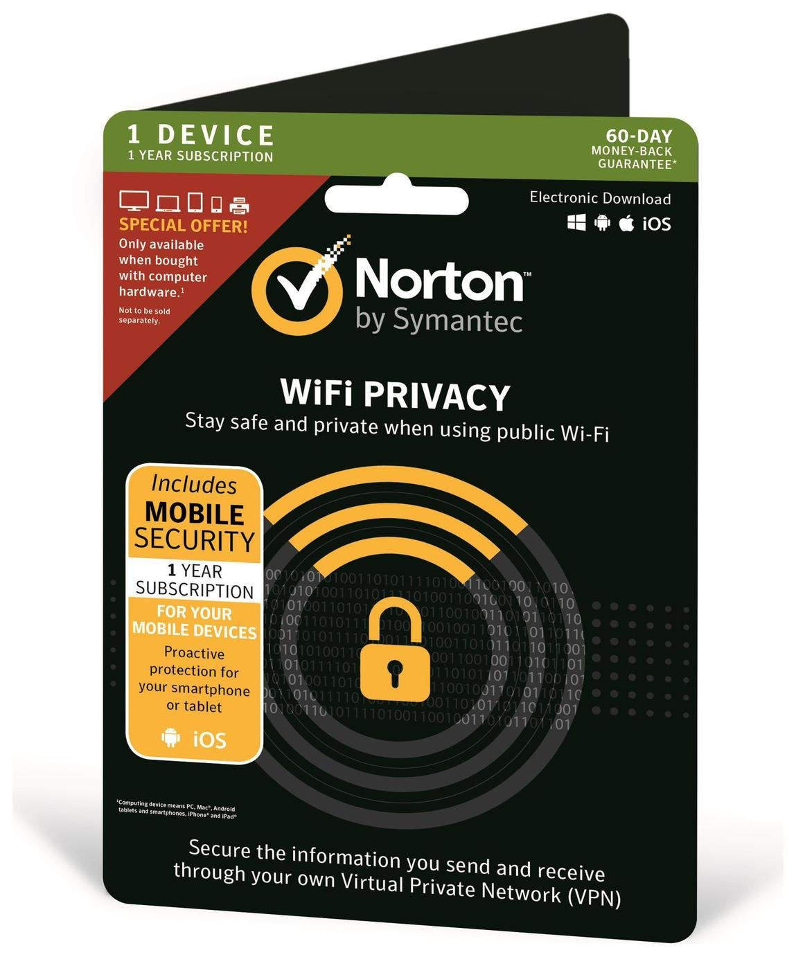 Norton Mobile Wi-Fi Security 2019 - 1 User 1 Device 1 Year