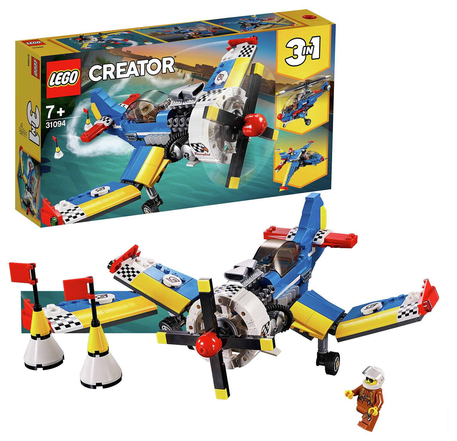 LEGO Creator Race Plane Toy Helicopter and Jet - 31094