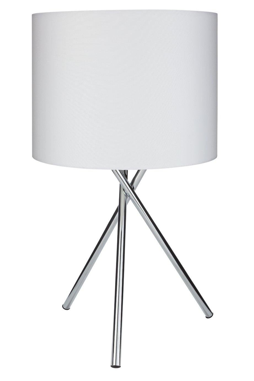 Argos Home Tripod Table Lamp - Chrome & White