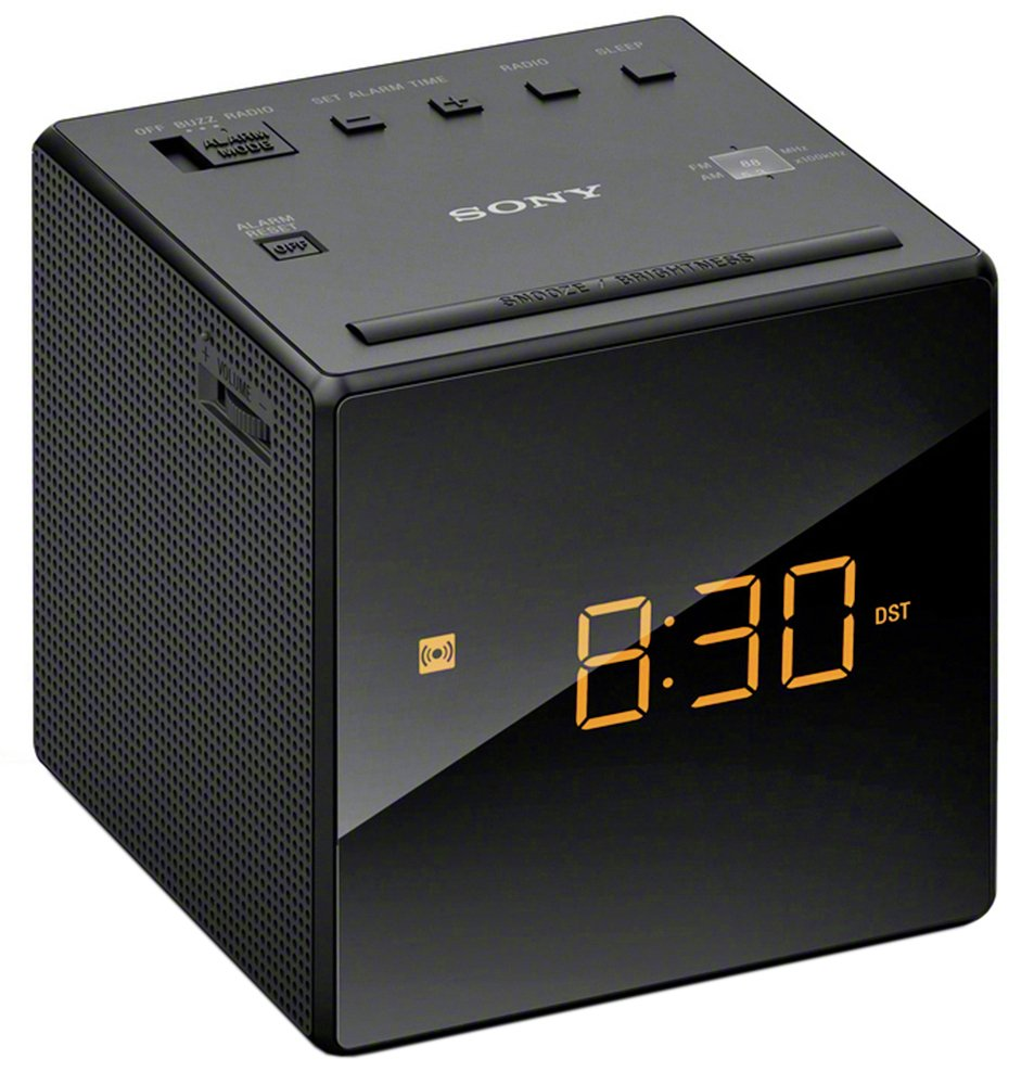 Sony ICF-C1B Cube FM/AM Clock Radio with Dual Alarm- Black
