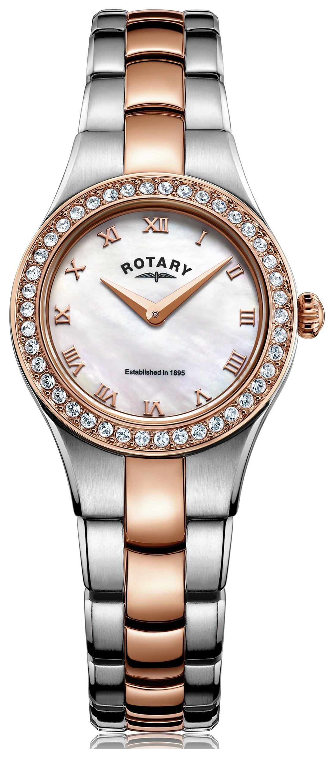 Rotary - Ladies Rose Gold Coloured and Stainless Steel - Watch