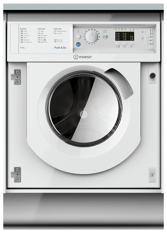 Indesit BIDIL7125 7KG / 5KG 1200 Spin Washer Dryer - White