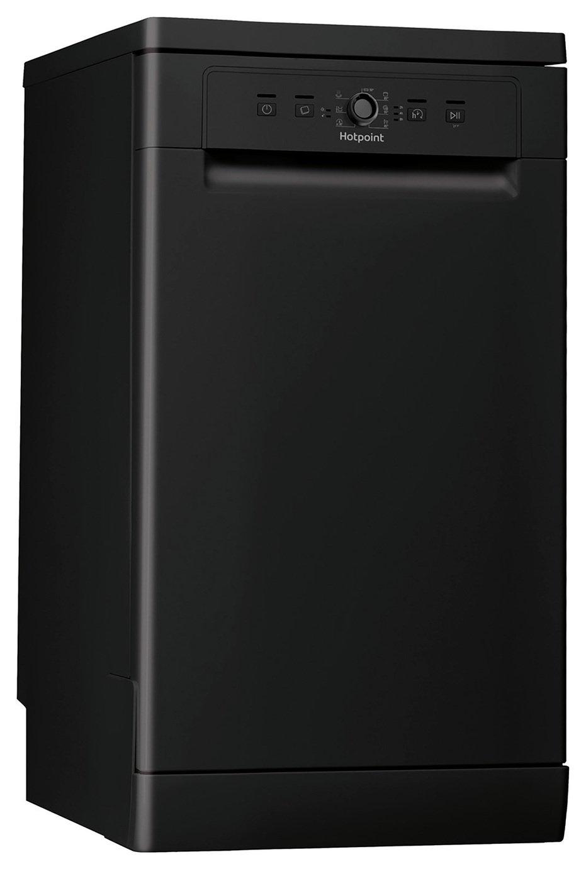 Hotpoint HSFE1B19BUK Slimline Dishwasher - Black