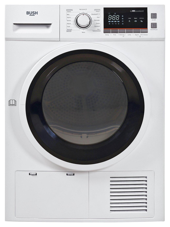 Bush TDNBX8HP 8KG Heat Pump Tumble Dryer - White