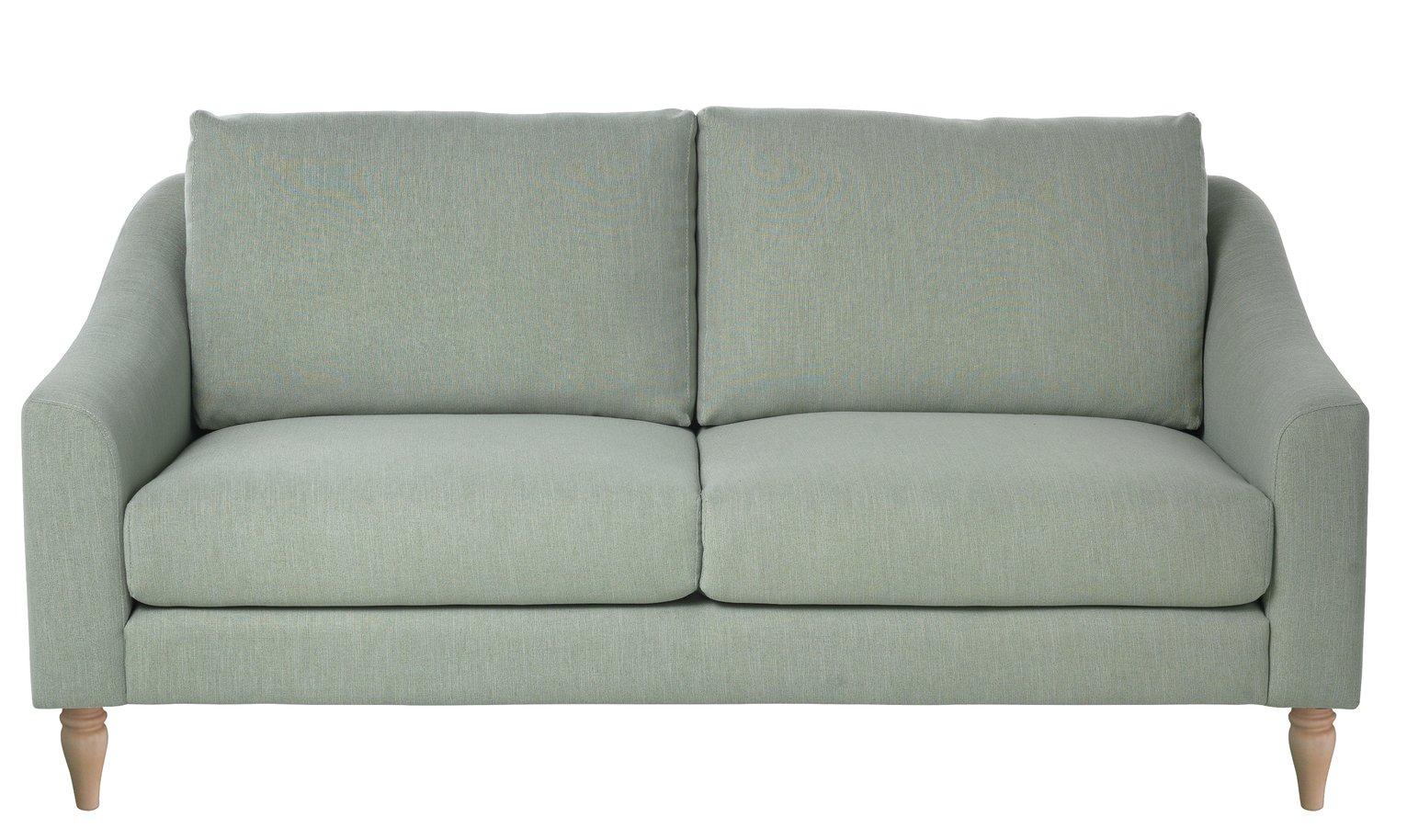Argos Home Cameron 3 Seater Fabric Sofa - Sage