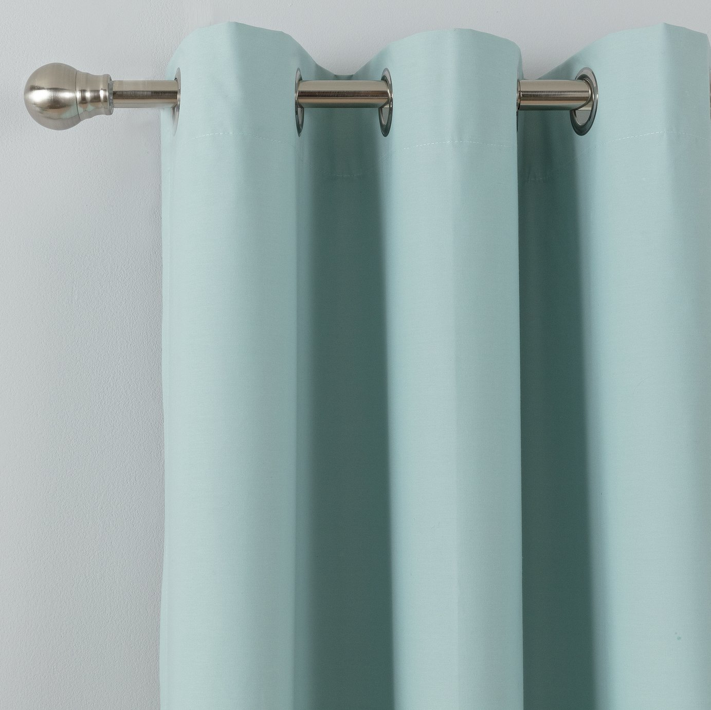 Argos Home Blackout Thermal Eyelet Curtains - Duck Egg