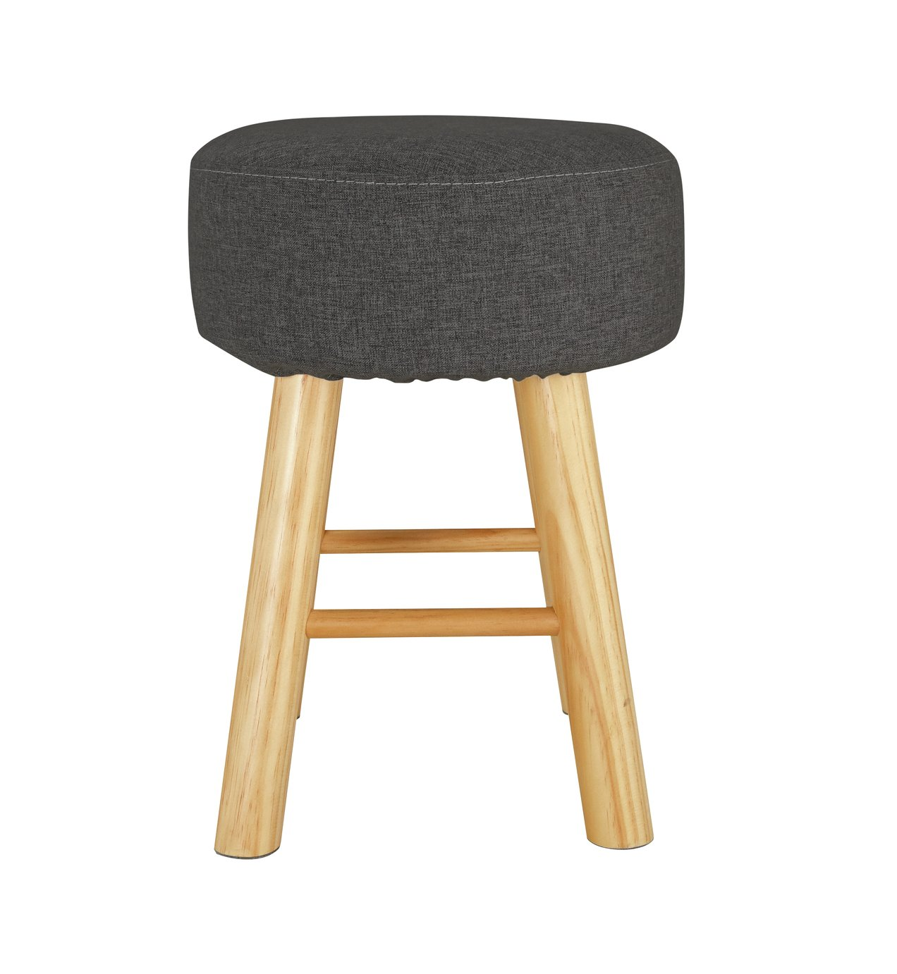 Argos Home Small Fabric Footstool - Charcoal