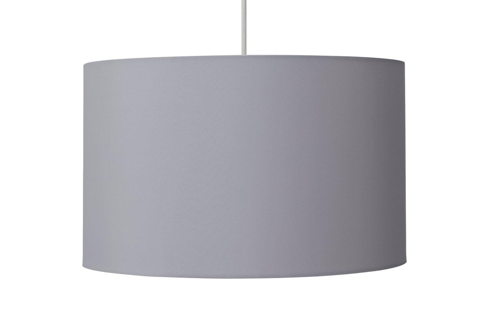 Argos Home Large Drum Shade - Dove Grey