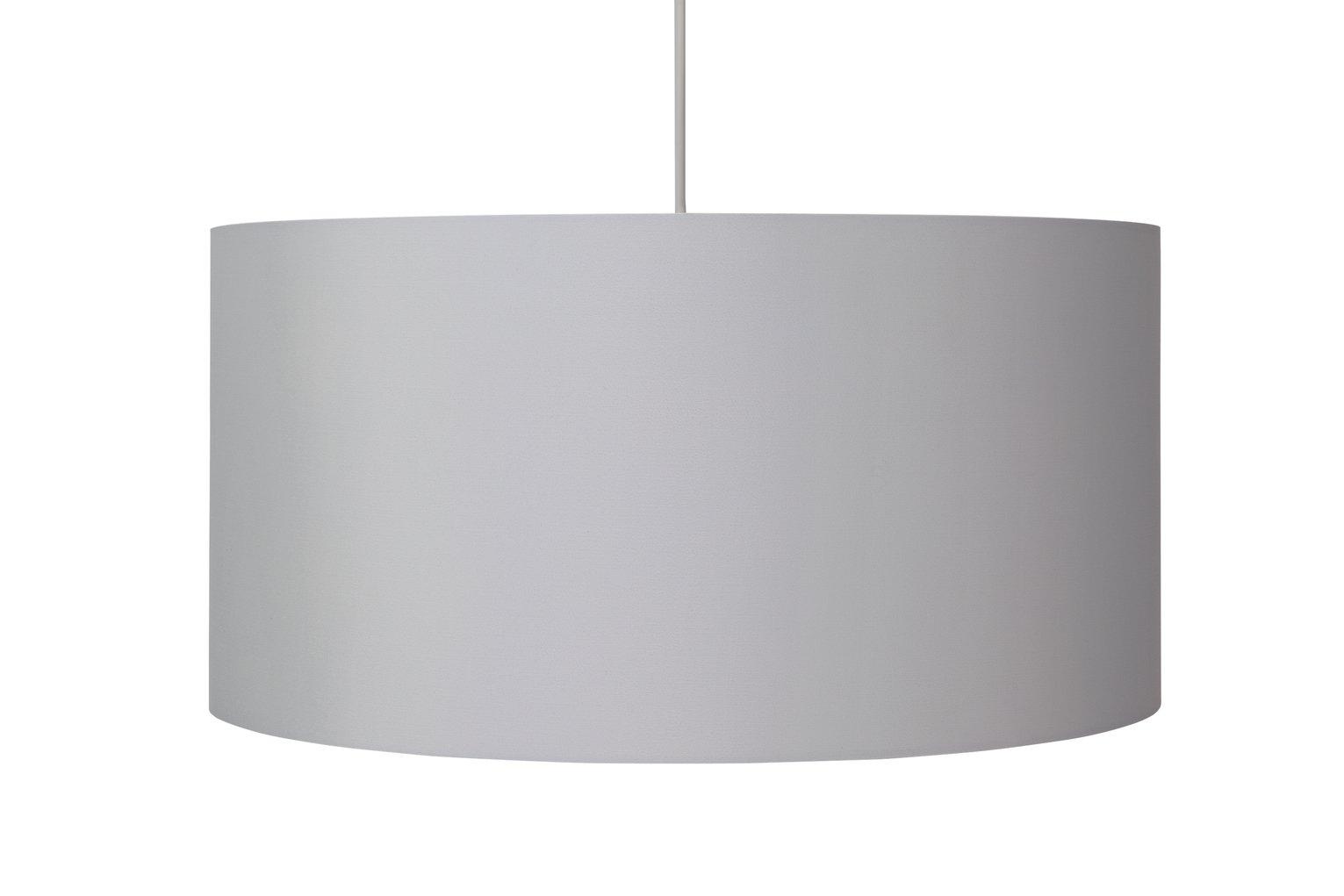 Argos Home Oversized Metallic Shade - Chrome & White