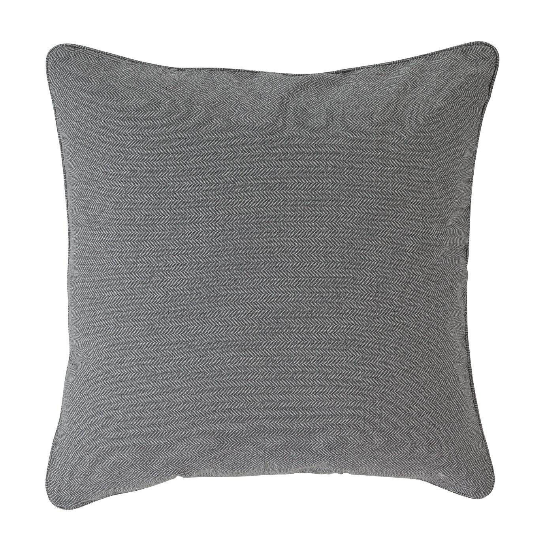 Argos Home Printed Herringbone Cushion - Grey